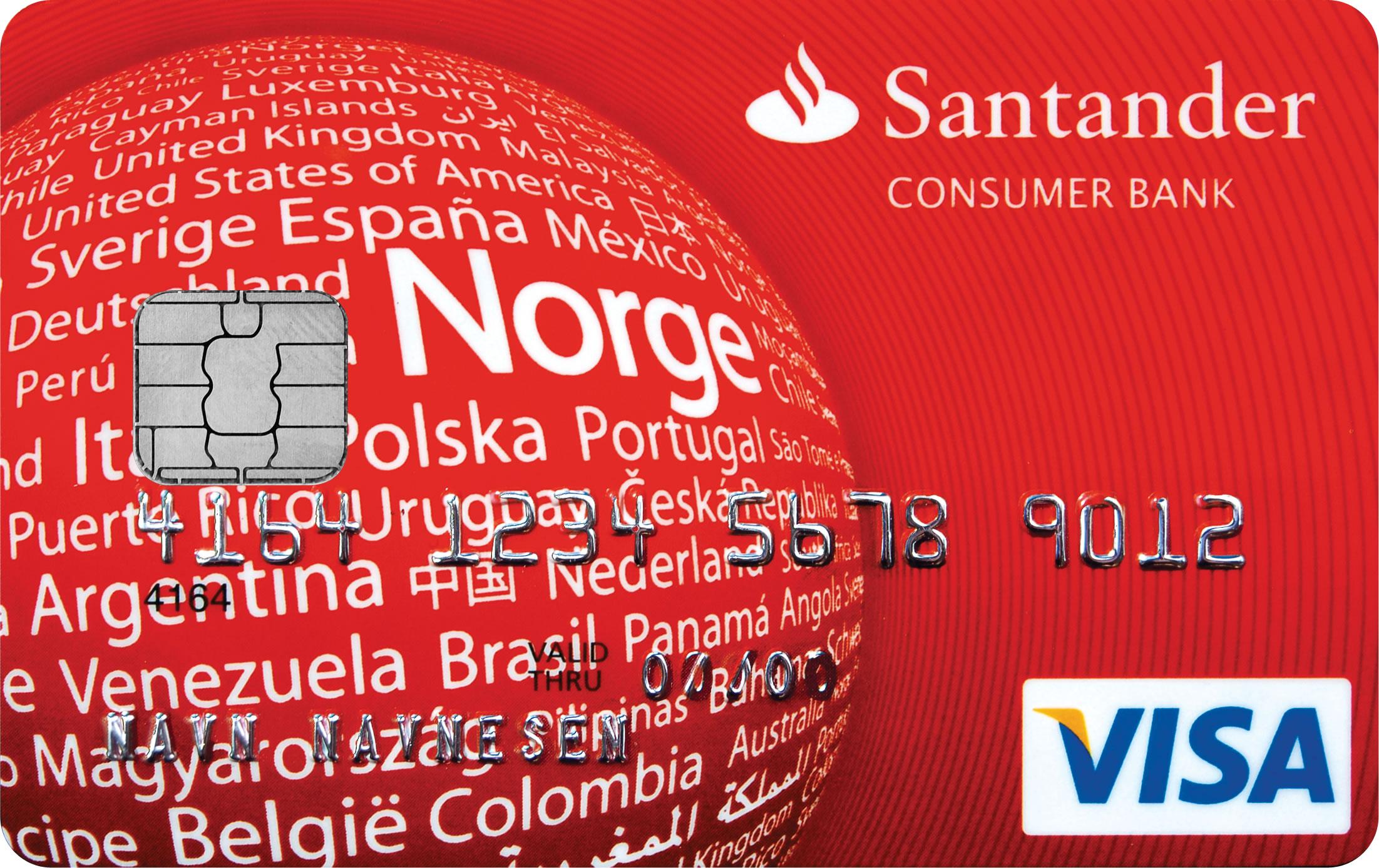 Kredittkort: Santander Red Card