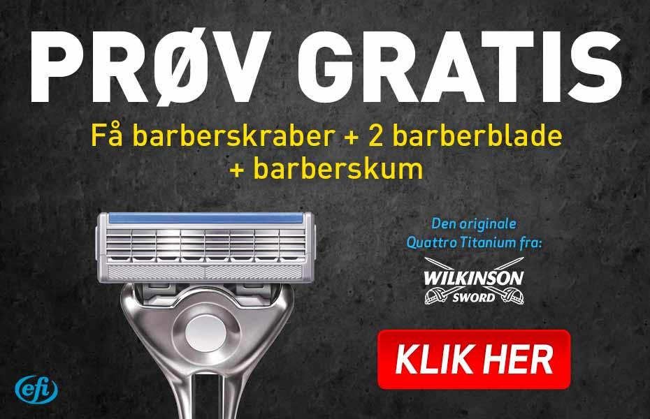 Gratis barberblade – Betal kun porto