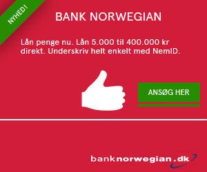 Ansøg gratis hos Bank Norwegian
