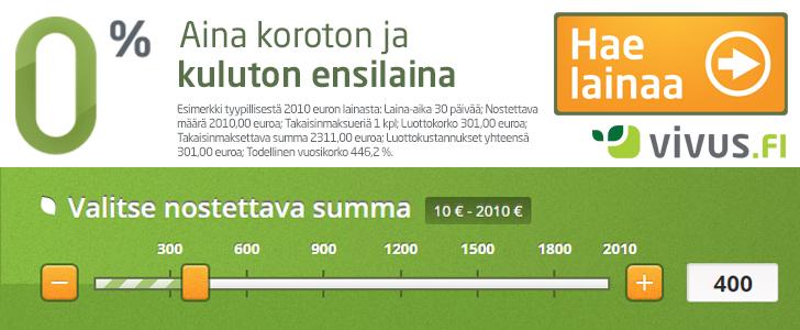 Hae pikavippi Vivus.fi palvelusta!