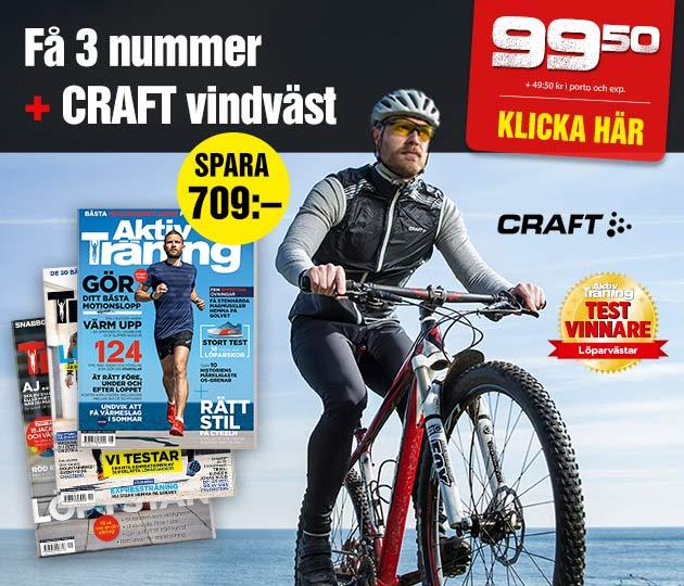 Aktiv Träning + Craft Löpar- och cykelväst