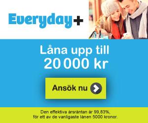 Everyday+ lån upp till 20000kr