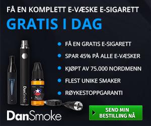 Prøv Norges beste e-sigarett fra DanSmoke