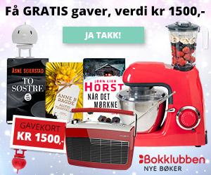 Nye Bøker bokklubb gavekort på 1500 kr