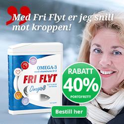Fri Flyt Omega-3 til 40% rabatt og med gratis gave