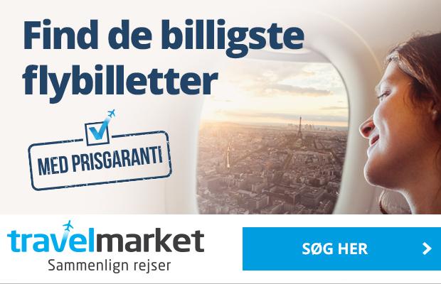 Find de billigste flybilletter hos Travelmarket!