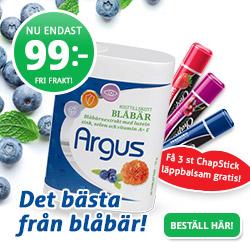 Blåbärsextrakt bra för ögonen - Prova Argus 1 mån 99 kr