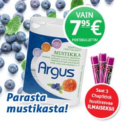 Kokeile Argus ravintolisää 1kk vain 7,95€ postikuluitta