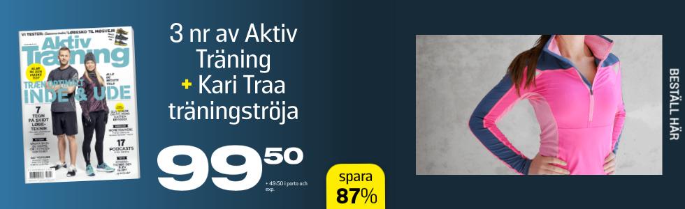 Aktiv Träning + Kari Traa Mette LS zip Pink