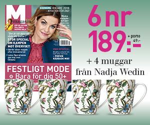 M-magasin 6 nr + 4 muggar Bugs & Butterflies av Nadja Wedin