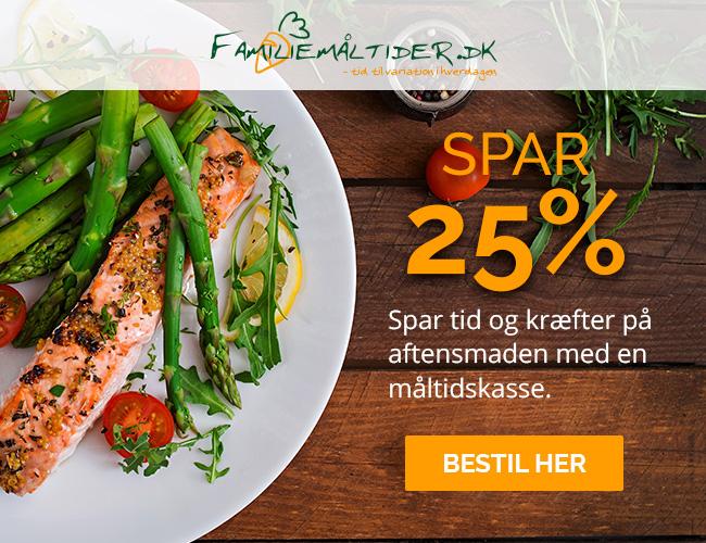 Spar 25 % på alle måltidskasser med rabatkode: AS25