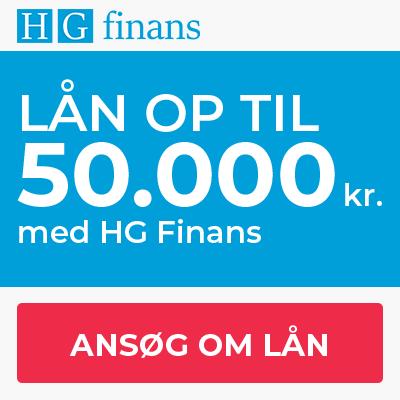 Du kan allerede ansøge om et lån hos HG Finans i dag.