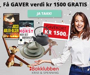 Bokklubben Krim og Spenning - få gavekort kr 1500,-