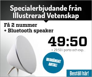 2 nr av Illustrerad Vetenskap + Sonitum Bluetooth-högtalare