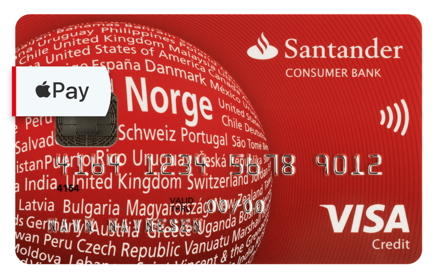 Santander Red er et kredittkort fra Santander Consumer Bank.