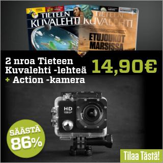 2 numeroa Tieteen Kuvalehti -lehteä + PROX11 Full HD Action -kamera vain 14,90 €