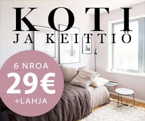 Nappaa Koti ja Keittiön huipputarjous - 6 numeroa vain 29€