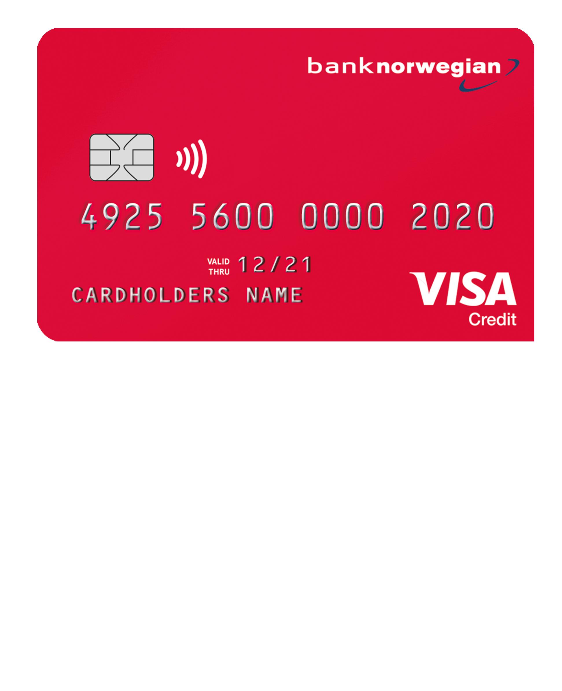 Bank norwegian VISA kort