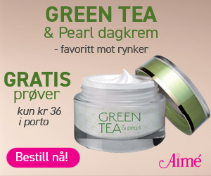 Green Tea & Pearl Supercréme fra Aimé gratis