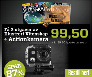 Illustrert Vitenskap + PROX11 full HD actionkamera