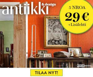 Antiikki & Design 5 numeroa vain 29€ + lahja