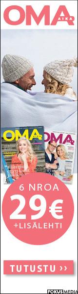 Oma Aika -lehti + Aktiivisuusranneke ja vyölaukku tai Family-valokuvakehys