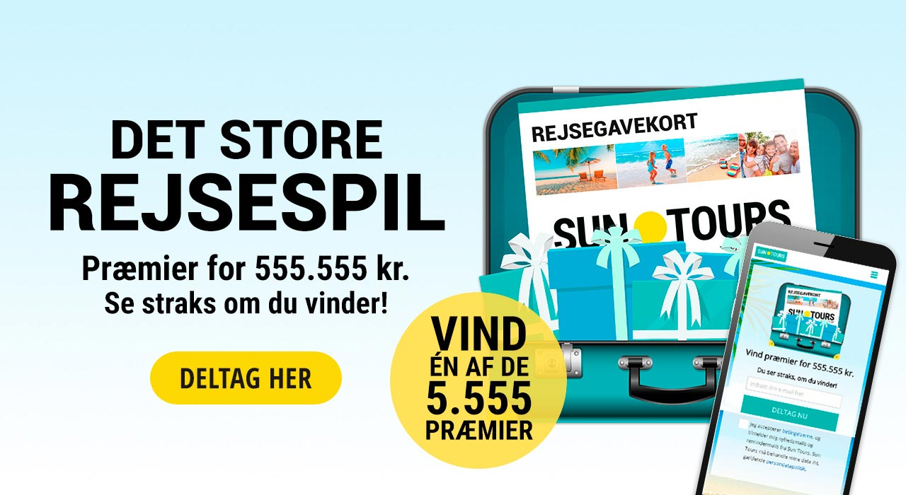Sun Tours Konkurrence Vind Præmier For 555555 Rejs365dk