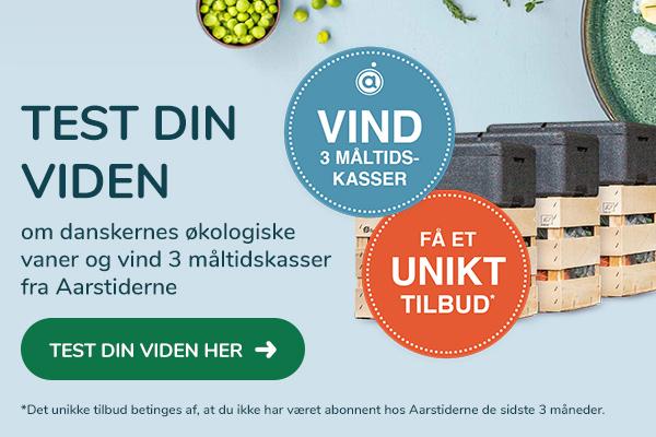 Vær med i konkurrencen om 3 lækre måltidskasser fra Aarstiderne