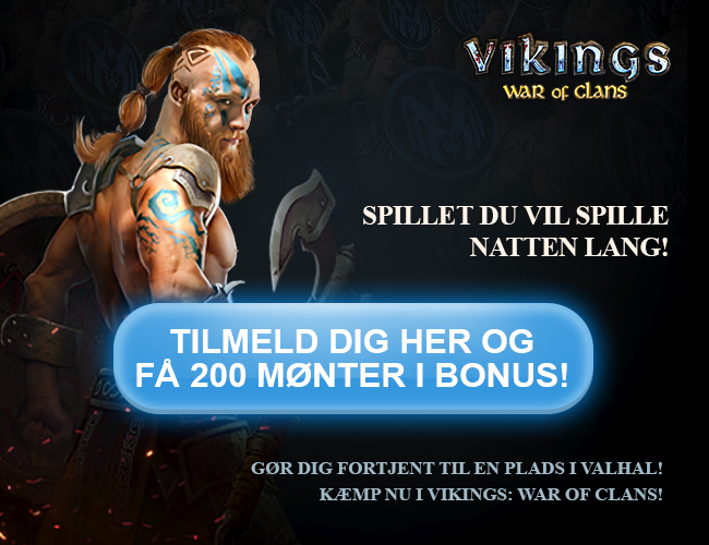 Vikings: War of Clans - Tilmeld dig nu og få 200 mønter i bonus