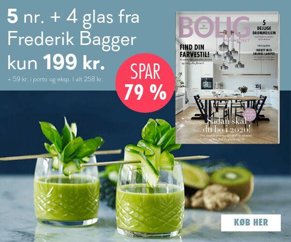 Få 4 flotte glas fra Frederik Bagger med Bolig Magasinet