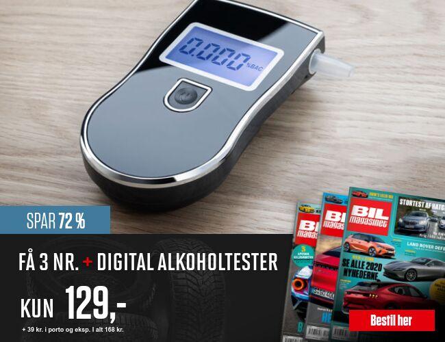 Få 3 numre af Bil Magasinet + Digital Alkoholtester