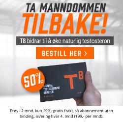 T8 50% rabatt på Natural Testosterone Booster