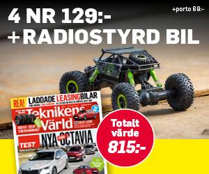 Teknikens Värld - 4 nr + Radiostyrd bil