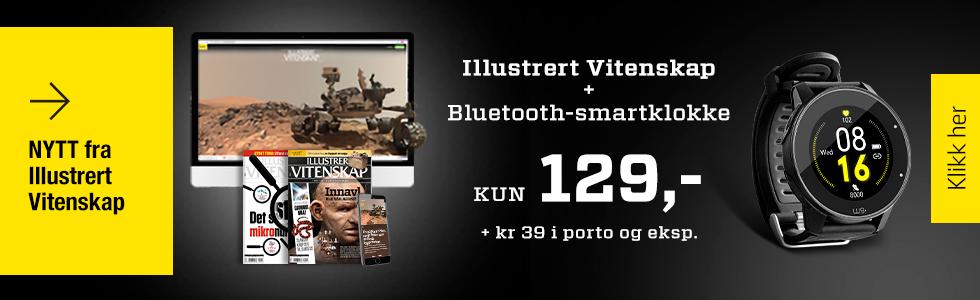Illustrert Vitenskap + Bluetooth-smartklokke