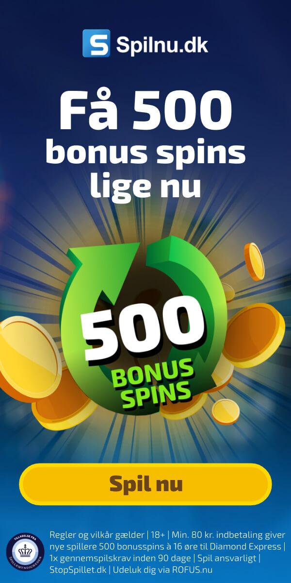 Spilnu.dk bonuskode til spilleautomater og casino spil online