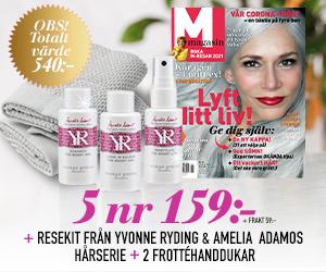 M-magasin - 5 nr + resekit från Yvonne Ryding/Amelia Adamos hårserie & 2-pack frottéhanddukar