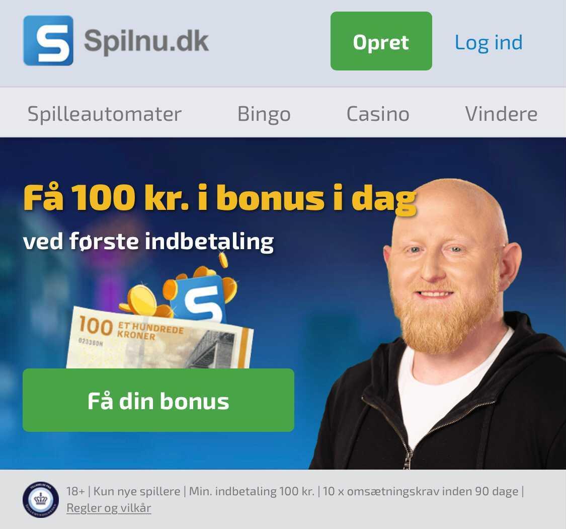 Få 200 kr. hos Spilnu
