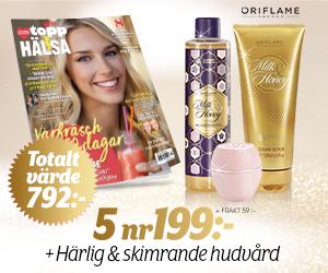 5 nr av Topphälsa för endast 199 kr + härlig & skimrande hudvård