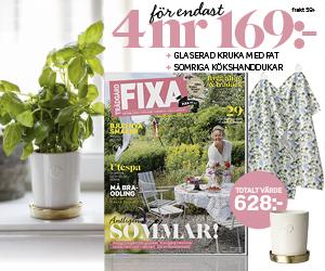 4 nr av FIXA 169 kr + terrakottakruka & handdukar