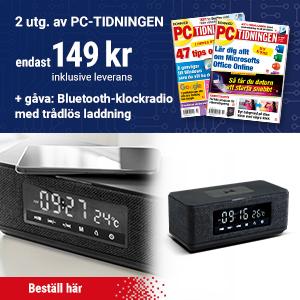 PC-tidningen + Bluetooth-klockradio med trådlös laddning