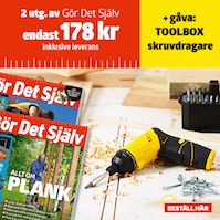 Gör Det Själv + TOOLBOX skruvdragare
